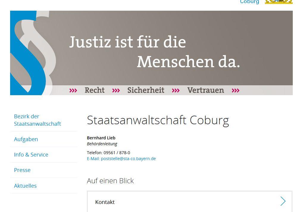 Sta Michael Imhof Und Richterin Ulrike Barausch Aus Coburg